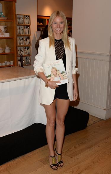 Gwyneth Paltrow durante o lançamento de seu livro, em Beverly Hills