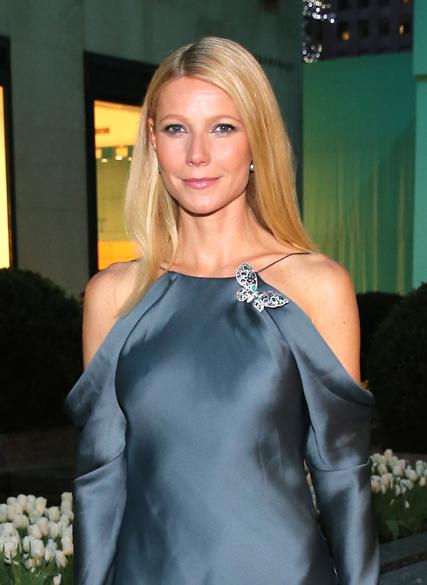 A atriz Gwyneth Paltrow durante evento da Tiffany & Co, em Nova York