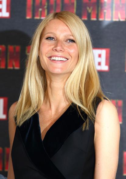 Gwyneth Paltrow durante coletiva do filme Homem de Ferro 3, em Londres