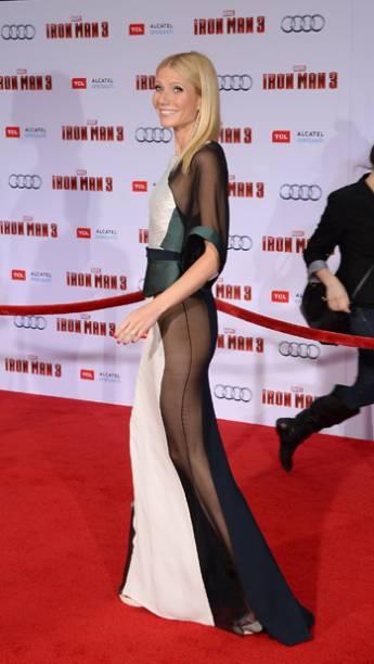 Gwyneth Paltrow durante estreia de Homem de Ferro 3