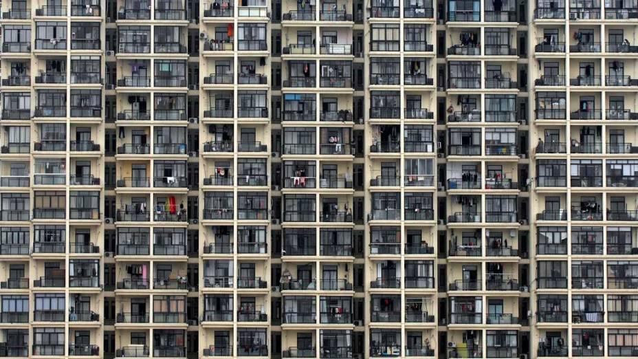 Prédio residencial em Xangai, na China