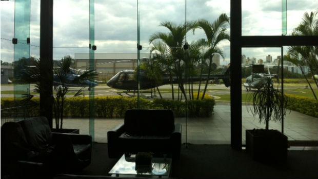 Hangar no Campo de Marte, em São Paulo, onde pousou o jatinho de Gusttavo Lima