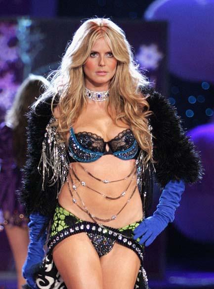 2º lugar - Modelo Heidi Klum