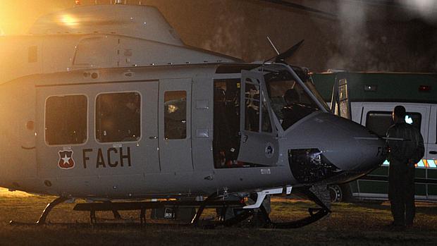 Os quatro primeiros mineiros resgatados foram levados de helicóptero ao hospital de Copiapó