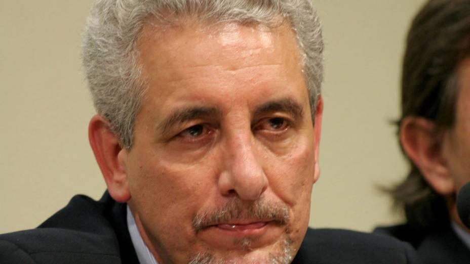 Henrique Pizzolato, ex-diretor de Marketing do Banco do Brasil, presta depoimento na CPMI dos Correios