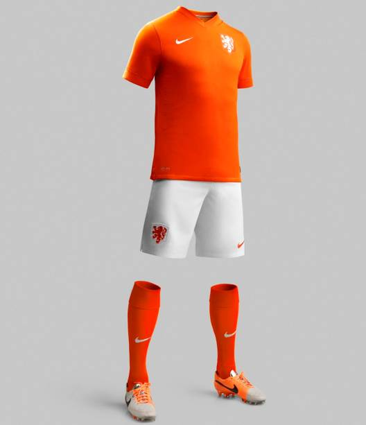 A camisa da seleção da Holanda para a Copa do Mundo de 2014