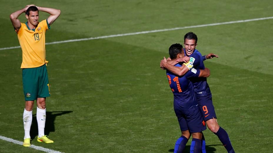Holanda vence Austrália por 3 a 2 no estádio Beira-Rio, em Porto Alegre