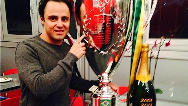 A Ferrari dedicou seu tradicional evento de final de ano, batizado de Final Mundial, para homenagear o brasileiro Felipe Massa, que faz sua despedida neste ano após oito temporadas defendendo a equipe<br>