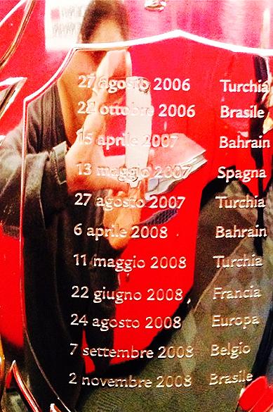 A Ferrari homenageou Felipe Massa pelas oito temporadas em que defendeu a escuderia