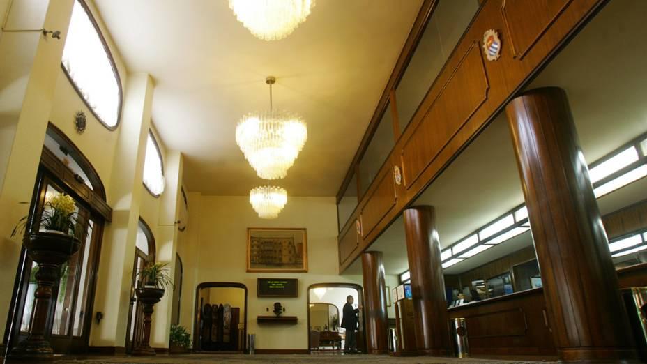 Hall de entrada do Hotel Ca'D'Oro, centro de São Paulo