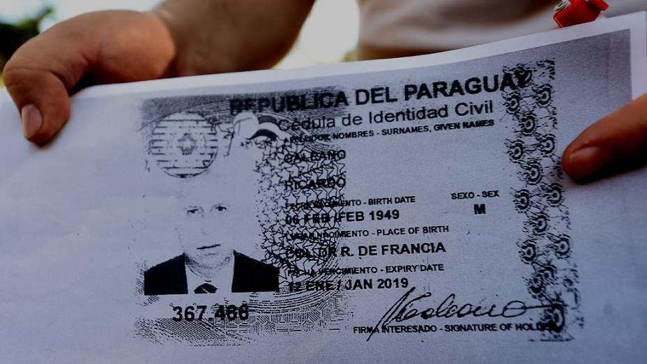Cédula de identidade falsa usada por Roger Abdelmassih no Paraguai