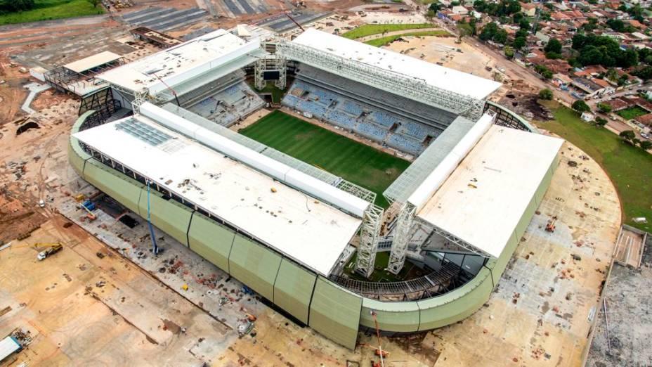 Imagem aérea da Arena Pantanal, em Cuiabá, em fevereiro de 2014
