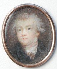 Imagem de Mozart feita por Joseph Maria Grassi e acomplada em caixa de marfim, de 1783