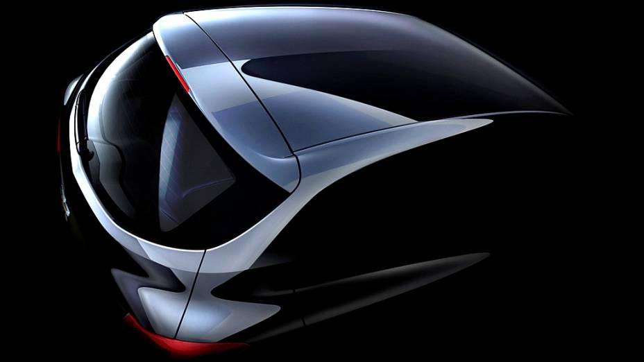 Imagem do novo compacto Onix, divulgada pela GM
