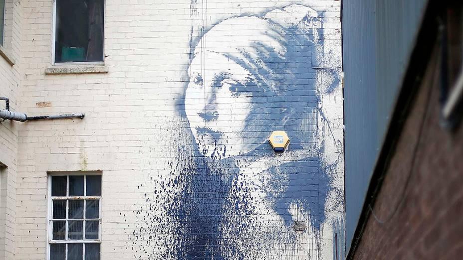 Trabalho do artista Banksy é vandalizado em Londres