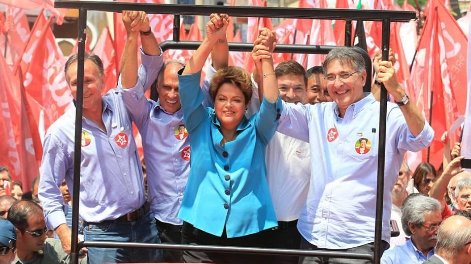 Dilma faz campanha em Uberaba (MG)