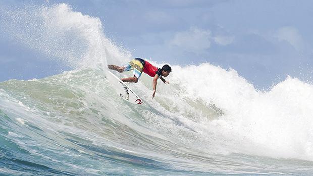Na Austrália, o surfista brasileiro Gabriel Medina competiu na terceira rodada do Quicksilver Pro Gold Coast, em Snapper Rocks