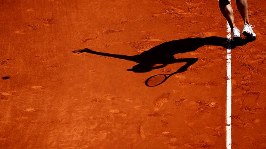 Tenista chinesa Na Li durante confronto com a americana Sloane Stephens no Masters WTA de Madri