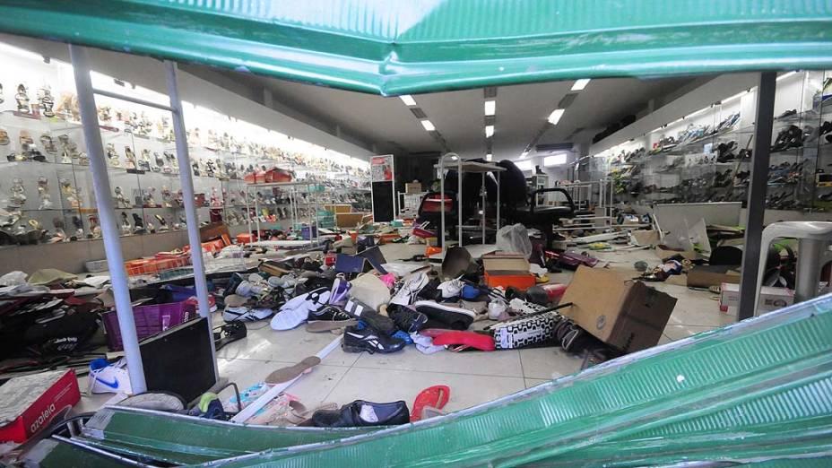 Greve da Polícia Militar, na grande Recife. Saques em lojas de Abreu e Lima, a prefeitura da cidade, temendo novos roubos no município, decretou ponto facultativo para todos os trabalhadores<br>