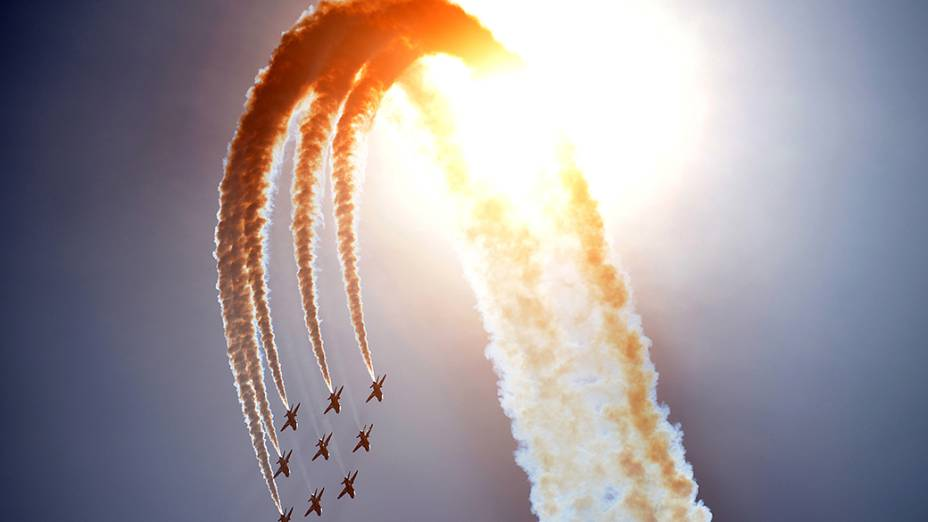 Força Aérea da Grã-Bretanha durante as comemorações do 70º aniversário do Dia D emPortsmouth, ao sul da Inglaterra