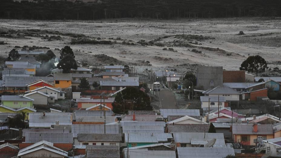 Termômetro registrou -2° C na cidade de São Joaquim, em Santa Catarina