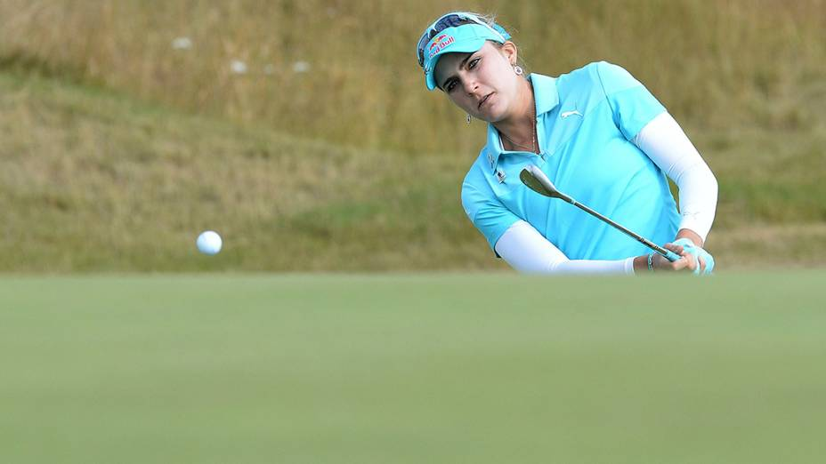 Lexi Thompson, dos Estados Unidos, é fotografadadurante o British Open, torneio de golfe das mulheres, no Royal Birkdale Golf Club, ao norte da Inglaterra