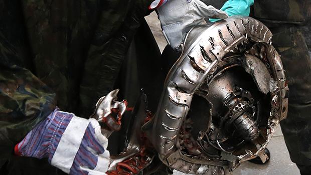 Peça de aeronave encontrada no local do acidente