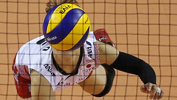 A japonesa Yuko Sano durante campeonato de vôlei, na Rússia