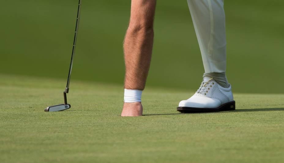 Graeme Mc Dowell, da Irlanda do Norte, durante torneio de golfe em Xangai, na China