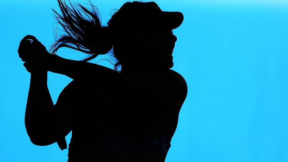 A russa Maria Sharapova durante o Aberto da Austrália, em Melbourne