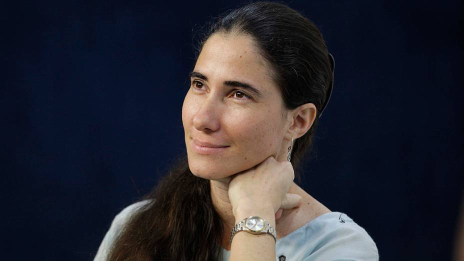 A jornalista e blogueira cubana Yoani Sánchez durante sabatina realizada pelo Jornal O Estado de São Paulo e Rádio Estadão, na manhã desta quinta-feira (21)