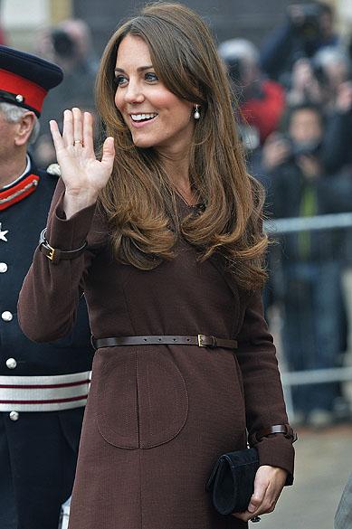 Catherine Middleton, Duquesa de Cambridge durante visita ao Centro Nacional de Pesca em Grimsby, no norte da Inglaterra