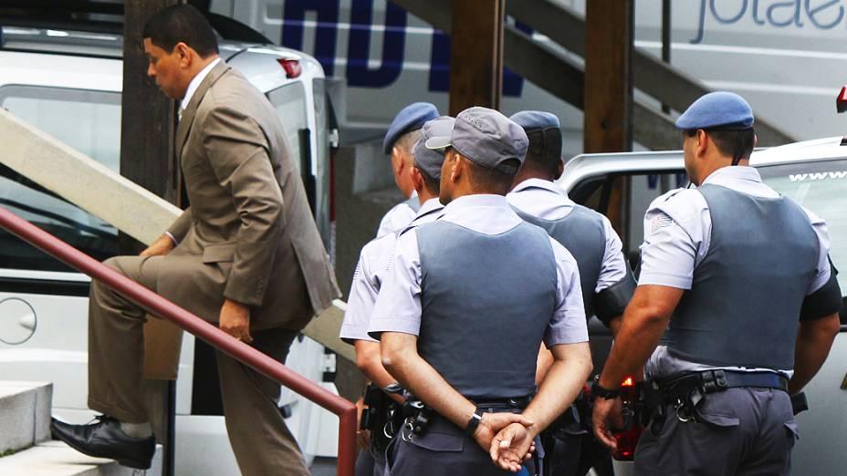Julgamento do advogado e policial militar reformado, Mizael Bispo, no Fórum Criminal de Guarulhos, na Grande São Paulo, nesta terça-feira (12). Mizael é acusado de matar a advogada Mércia Nakashima, em 23 de maio de 2010, na cidade de Nazaré Paulista