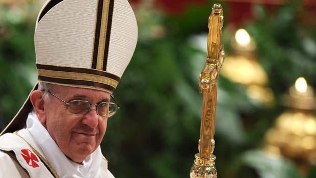 Papa Francisco durante as comemorações da Páscoa, no Vaticano