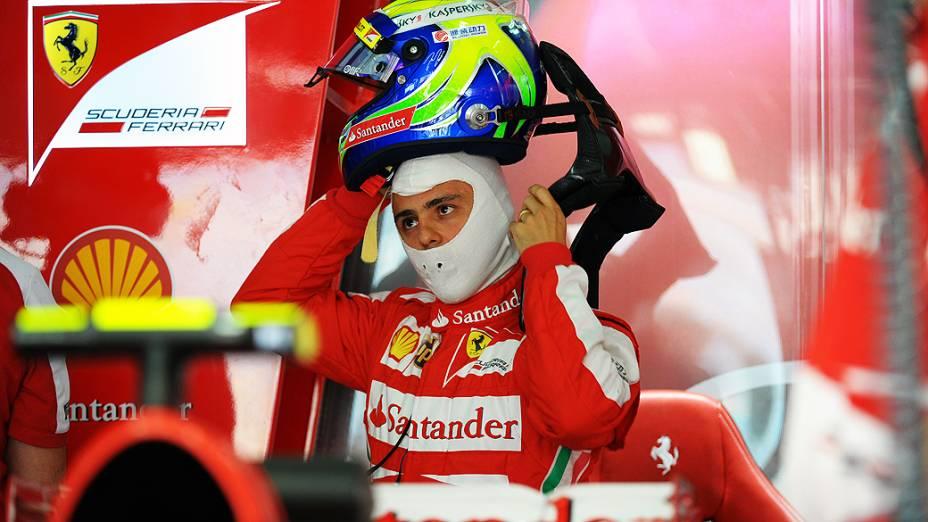 O brasileiro Felipe Massa foi o mais rápido no primeiro treino no Bahrein