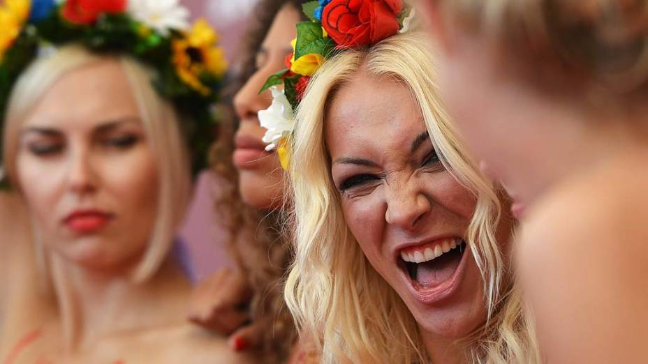 Documentário do grupo feminista Femen é exibido durante o 70 º Festival Internacional de Cinema de Veneza, em 04/09/2013