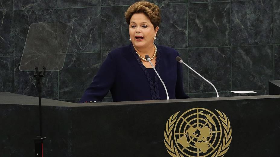 Dilma Rousseff discursa na 68ª sessão da Assembleia Geral da ONU, em Nova York