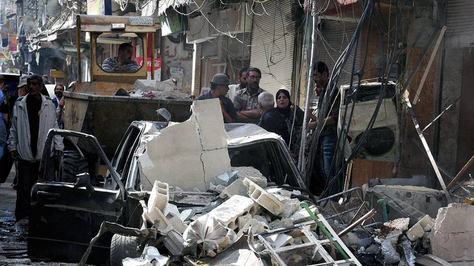 Uma explosão em um bairro no sul de Damasco, capital da Síria, deixou vários mortos e feridos, nesta terça-feira (24)