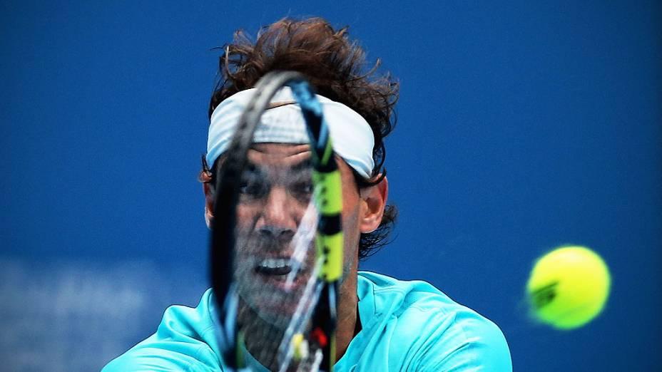Rafael Nadal durante partida das quartas-de-final de homens contra Fabio Fognini da Itália no dia sete do China Open 2013, no Centro Nacional de Ténis em Pequim