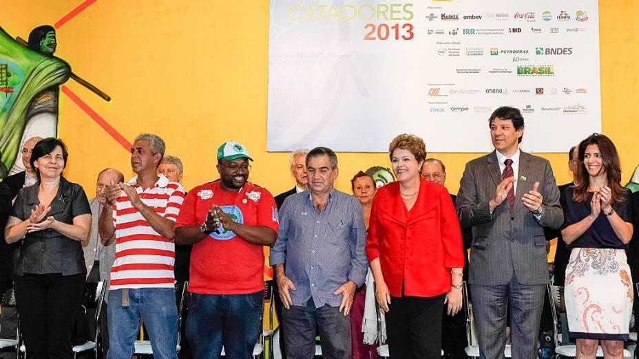 A presidente da Republica, Dilma Rousseff, durante a Expocatadores 2013, realizado no Anhembi em São Paulo, SP, na manhã desta quinta-feira (19)