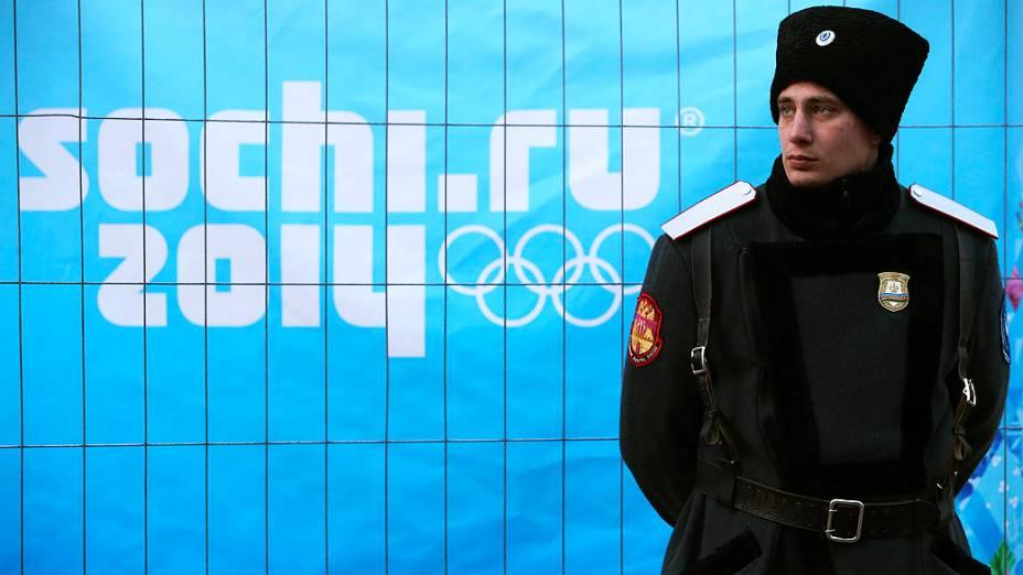 Militares na abertura dos Jogos de Sochi, na Rússia