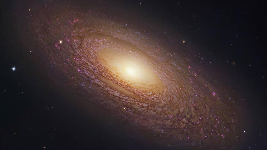 Foto divulgada pela Nasa nesta segunda-feira (21), mostra uma das galáxias mais conhecidas, a NGC 2841, com um diâmetro de 150000 anos-luz aproximadamente