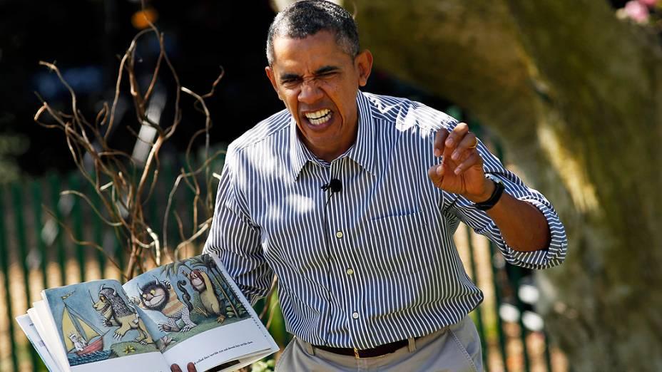 O presidente dos Estados Unidos Barack Obama participou, nesta segunda-feira (21), da tradicional celebração de Páscoa na Casa Branca