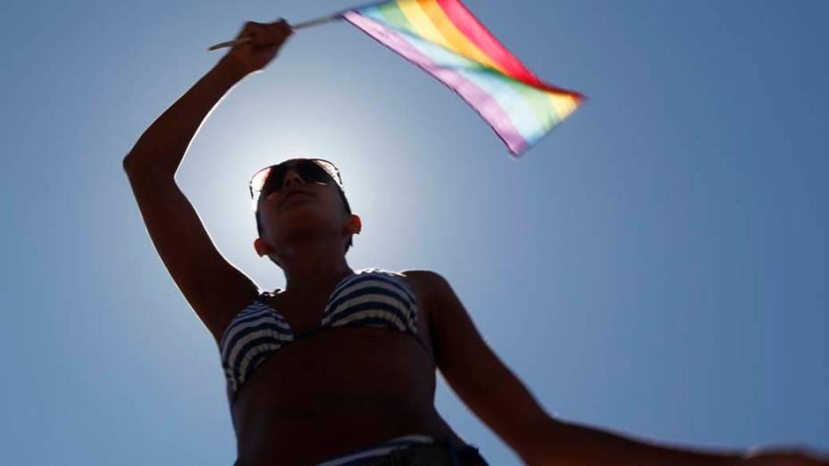 Mulher durante a parada gay de Tel Aviv, em Israel
