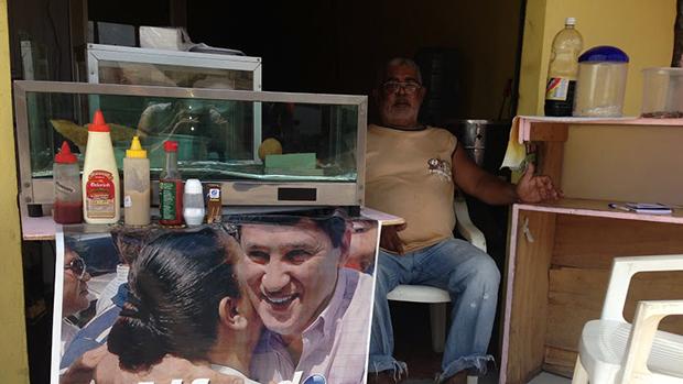 O morador Ubaldino de Melo<br>