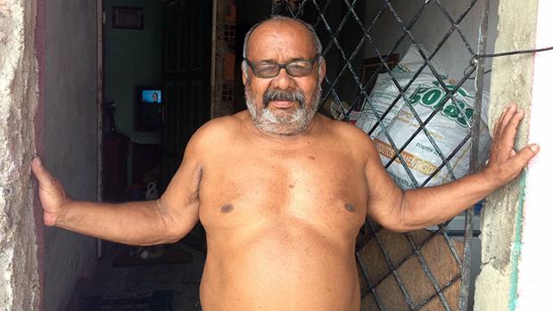 O morador Elias Pinheiro