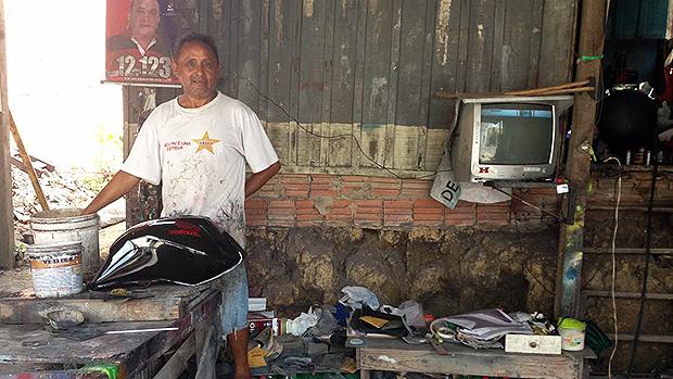 O morador Manuel Lima