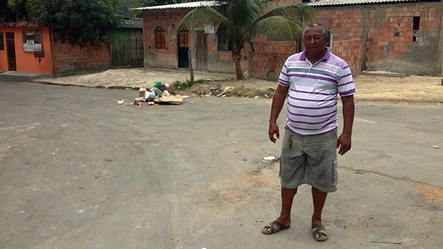 O morador Edzega Lucas de Souza (Baiano)