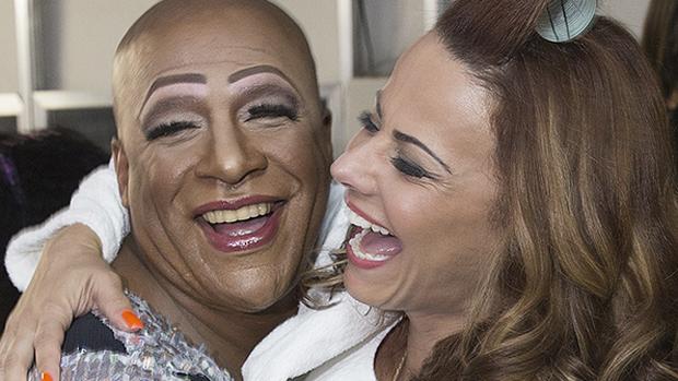 Xana (Ailton Graça) e Naná (Viviane Araújo) em Império