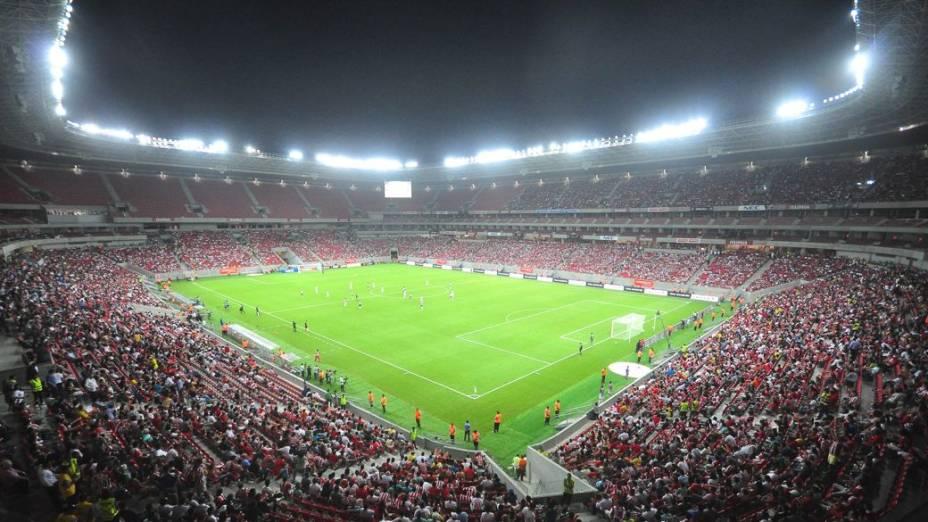 O primeiro jogo da Arena Pernambuco, entre Náutico e Sporting